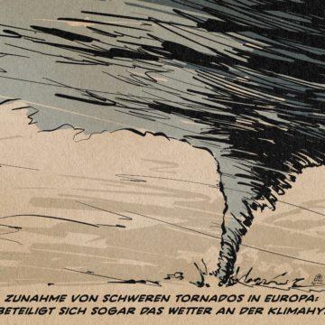 Cartoon Umwelt Tornado Klimawandel